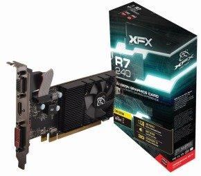 XFX R7 240D Core 2GB DDR3 VGA DVI HDMI PCI-E Low Profile Graphics Card