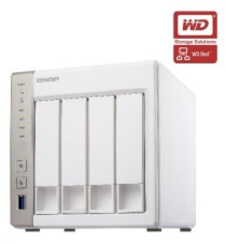 QNAP TS451 12TB (4 x 3TB WD Red) 4 Bay Desktop NAS