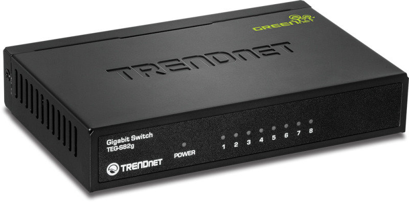 TRENDnet 8-Port Gigabit GREENnet Network Switch with Metal Case