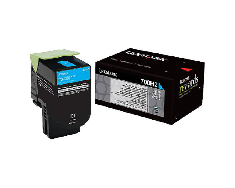 Lexmark 700H2 High Yield Cyan Toner Cartridge