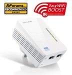 TP-LINK TL-WPA4220 AV500 Powerline 300M Wi-Fi Extender/Wi-Fi Booster/Hotspot with Two Ethernet Ports