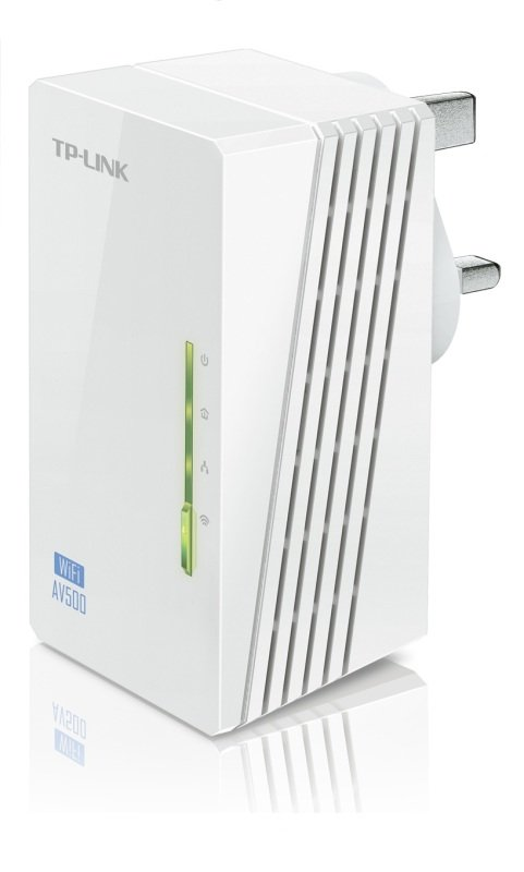 TP-LINK TL-WPA4220 AV600 Powerline 300M Wi-Fi Extender/Wi-Fi Booster/Hotspot with Two Ethernet Ports