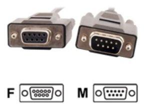 C2G, DB9 M/F Extension Cable Black, 15m