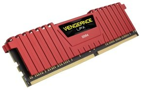 Corsair DDR4 2666MHz 16GB 4 x 288 DIMM Unbuffered 15-17-17-35 Vengeance LPX Red Heat spreader 1.20v