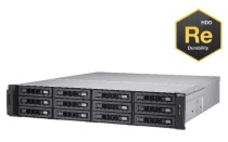 QNAP TS-EC1280U-RP 24TB (12 x 2TB WD RE) 12 Bay 2U Rackmount NAS