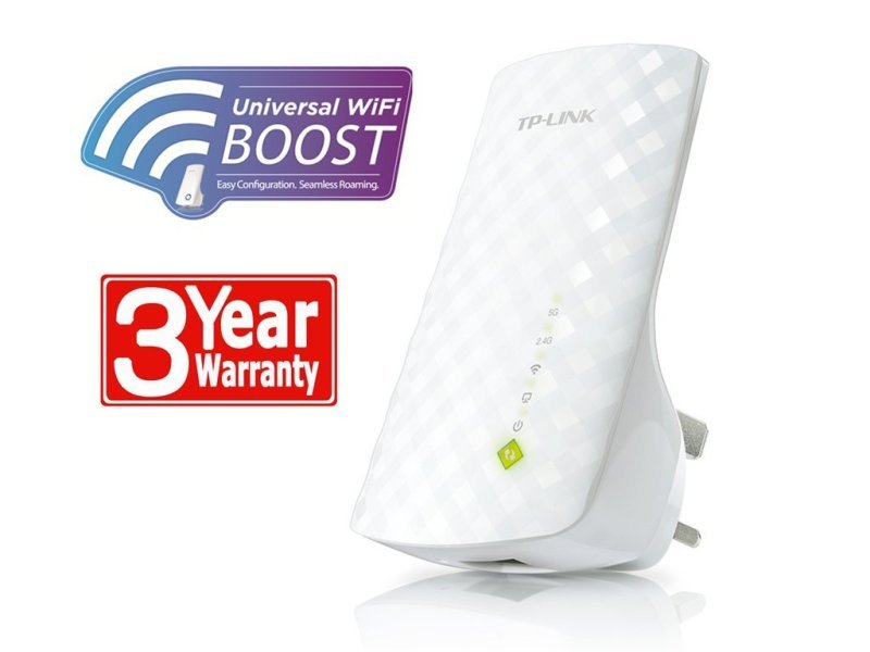 TP-Link RE200 - Wireless AC750 Plug-In Network Range Extender
