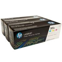 HP 305A CYM Tri-Pack LaserJet Toner Cartridge - CF370AM