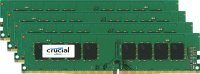 Crucial 32GB Kit (8GBx4) DDR4 2133 MT/s (PC4-17000) CL16 DR x8 Unbuffered DIMM 288pin