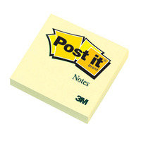 3M Postit Note 76x76mm Yellow 654 - 12 Pack
