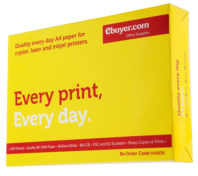 Ebuyer.com Everyday 80gsm A4 Printer Paper  500 Sheets