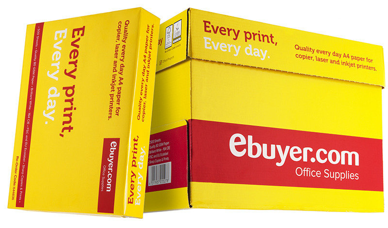 Ebuyer.com Everyday 80gsm A4 Printer Paper  2500 Sheets