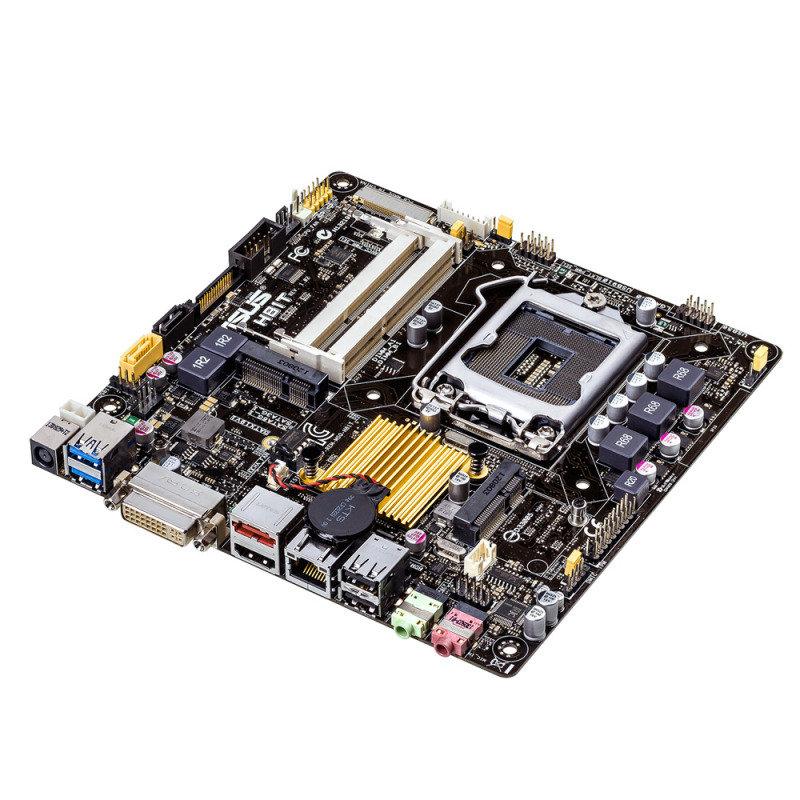 Asus H81T socket LGA1150 DVI HDMI 8-Channel HD Audio Thin Mini ITX Motherboard