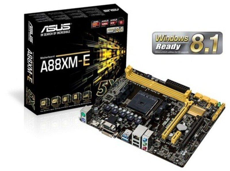 Asus A88XME Socket FM2 VGA DVI HDMI 8 Channel Audio mATX Motherboard
