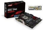 Asus B85-PRO GAMER Socket 1150 VGA DVI HDMI 8 Channel Audio ATX Motherboard