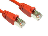 Cables Direct - Patch cable - RJ-45 (M) - RJ-45 (M) - 50 cm - FTP - ( CAT 6 ) - snagless booted - red
