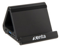 Xenta USB 3.0 4 Port Hub With 12V/2A Power Adapter and USB 3.0 Cable