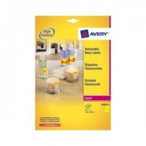 Avery Removable Laser Labels