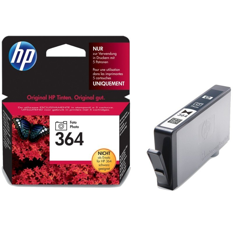 HP 364 Photo Black Ink Cartridge  CB317EE