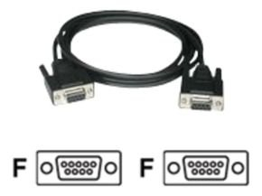 C2G, DB9 F/F Null Modem Cable Black, 3m