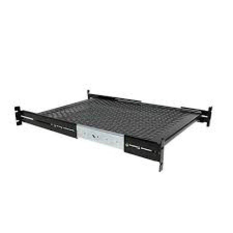 StarTech 2U Adjustable Mount Depth Sliding Rack Mount Shelf 50lbs/22.7kg