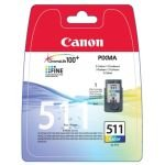 Canon CL-511 3 Colour (CMY) Ink Cartridge - 244 page Blister pack - 2972B009