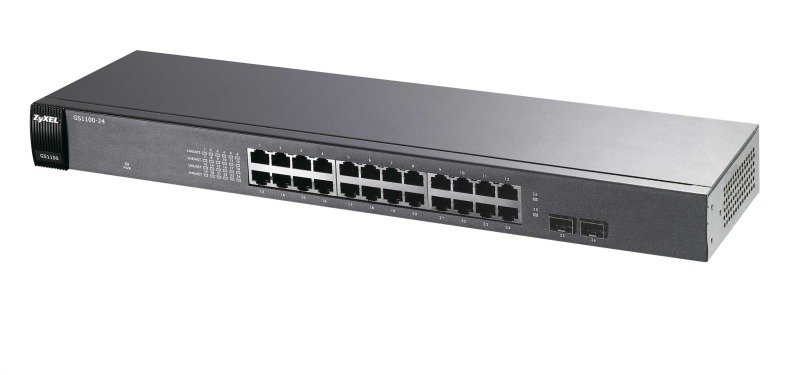 Zyxel GS1100-24  24 port Gigabit Unmanaged Switch, 2x SFP, Rackmount