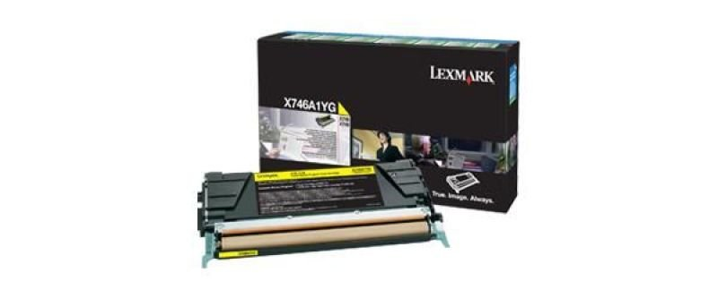 Lexmark X746A1YG Yellow Toner cartridge