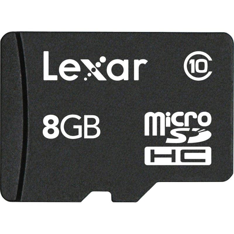 Image of 8GB Lexar Micro SDHC Memory Card C10