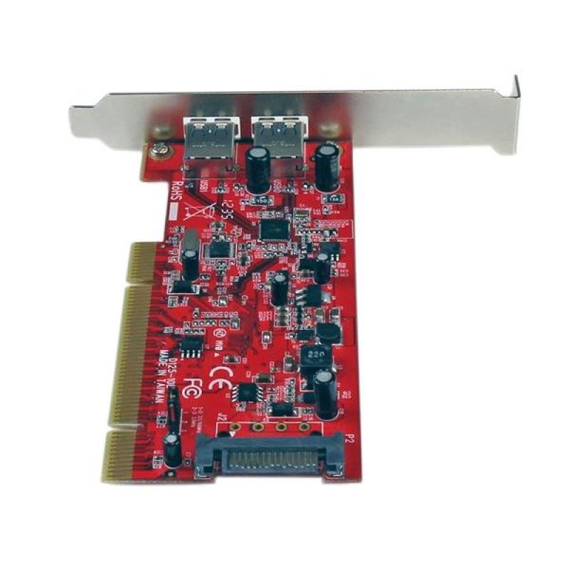 StarTech.com 2 Port PCI SuperSpeed USB 3.0 Adapter Card with SATA Power