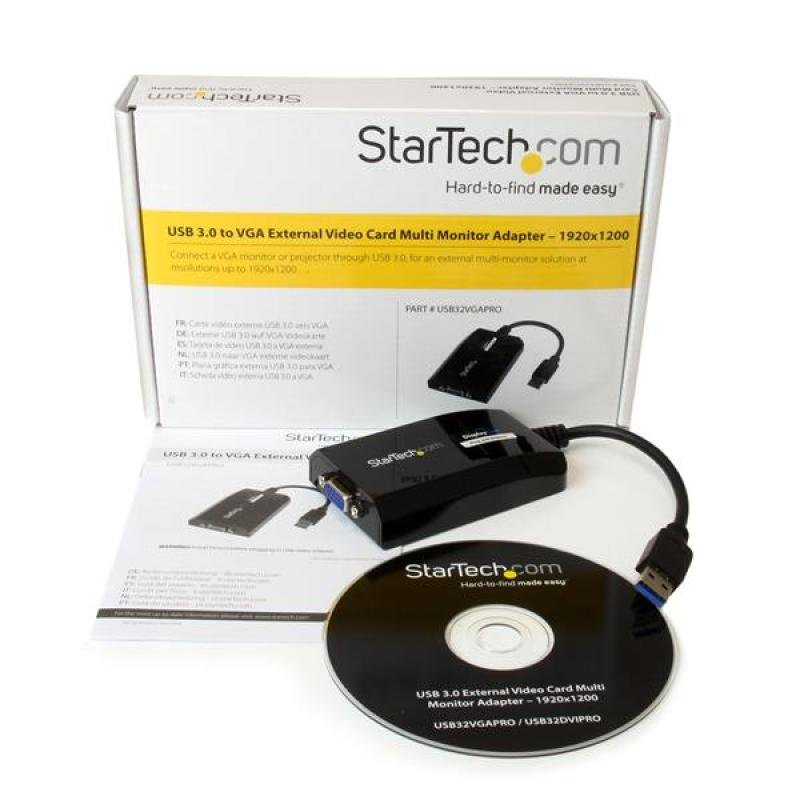 StarTech.com USB 3.0 to VGA External Video Card Multi Monitor Adapter for Mac and PC - 1920x1200 / 1080p