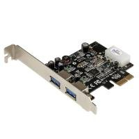 StarTech.com 2 Port PCI Express (PCIe) SuperSpeed USB 3.0 Card Adapter with UASP - LP4 Power