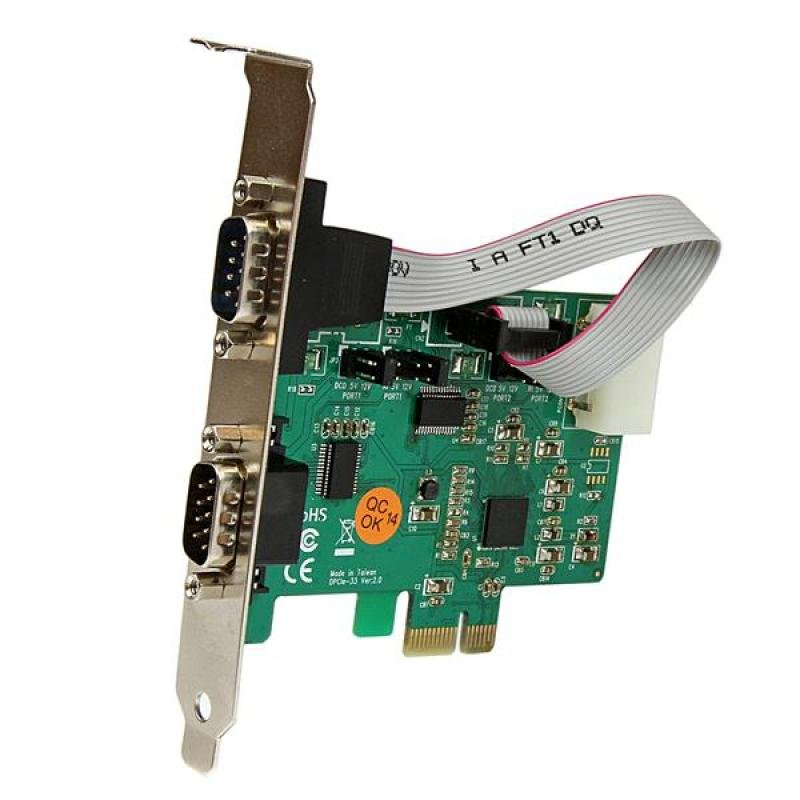 2port High Speed 921k Pci - Express Serial Port Card