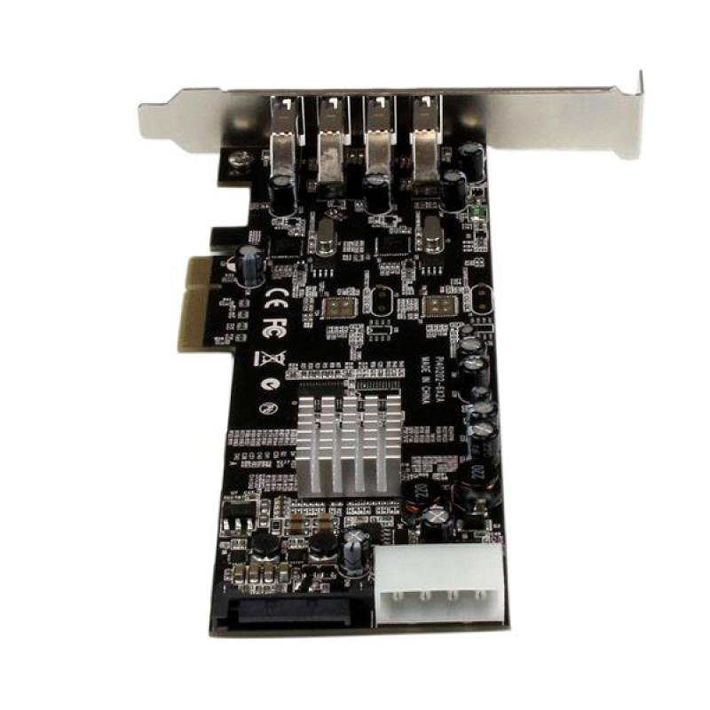 StarTech.com 4 Port PCI Express USB 3.0 Card w/ 2 Dedicated Channels - UASP