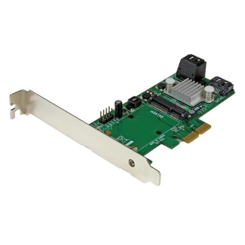 3 Port Pci Express 2.0 Sata Iii 6 Gbps Raid Controller Card W/ Msata Slot And Hyperduo Ssd Tiering