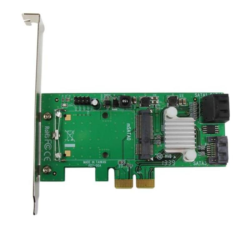 3 Port Pci Express 2.0 Sata Iii 6 Gbps Raid Controller Card W/ Msata Slot And Hyperduo Ssd Tiering