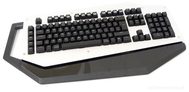 Cooler Master MECH Gaming Keyboard Full Size White Backlit Mechanical Aluminium face plate Cherry MX Brown