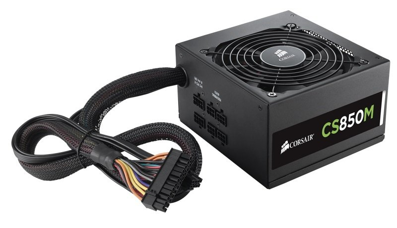 Corsair CS850M Semi-Modular 80+ Gold Certified Power Supply