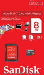 SanDisk 8GB Class 4 microSDHC Card + SD Adapter