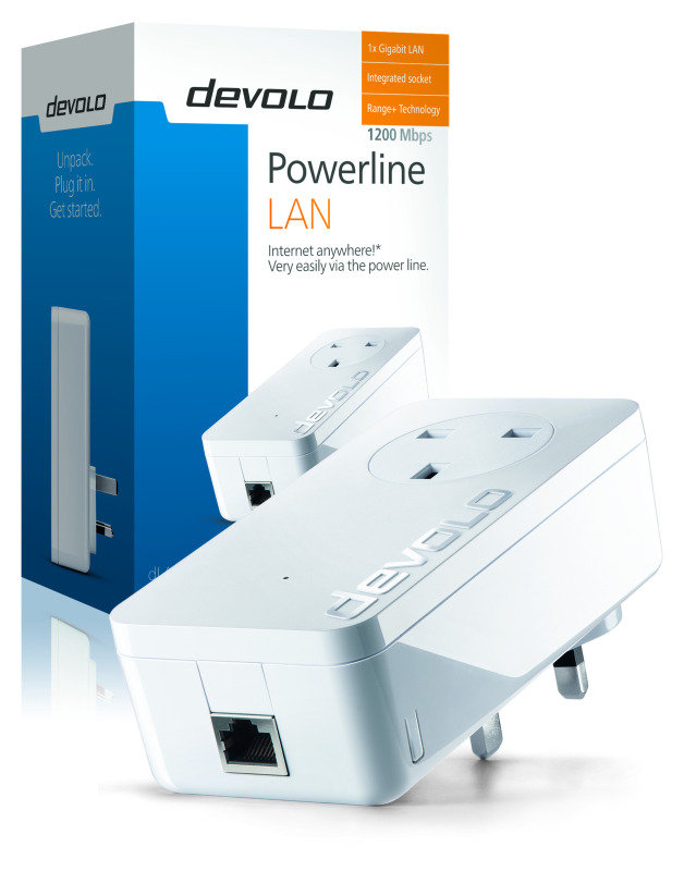 Image of Devolo 9371 dLAN Powerline 1200+ Gigabit Single Adapter