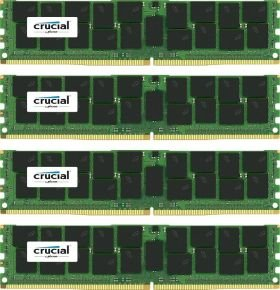 Crucial 64GB kit (16GBx4) DDR4 2133MHz PC4-17000 Registered ECC 1.2V Memory