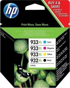 HP 932XL/933XL High Yield Black and C/M/Y Color Ink Cartridges Value Combo Pack - CB316EE