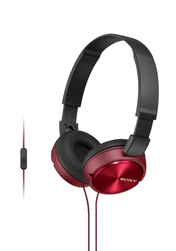 Sony ZX310 Red Mobile Over Ear Headphones