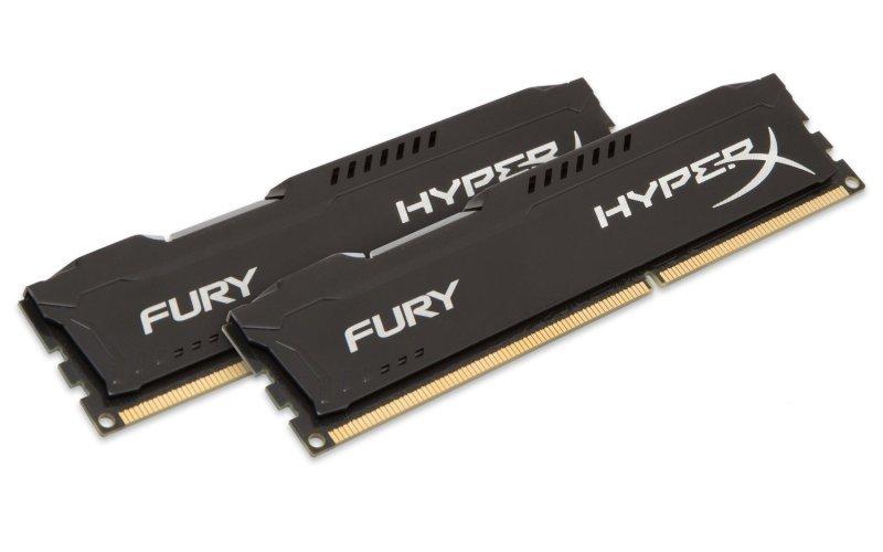 HyperX Fury Black Series 8GB 1600MHz DDR3 CL10 DIMM (Kit of 2) Desktop Memory