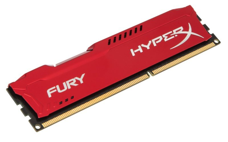HyperX Fury Red 8GB 1600MHz DDR3 CL10 DIMM (Kit of 2) Memory
