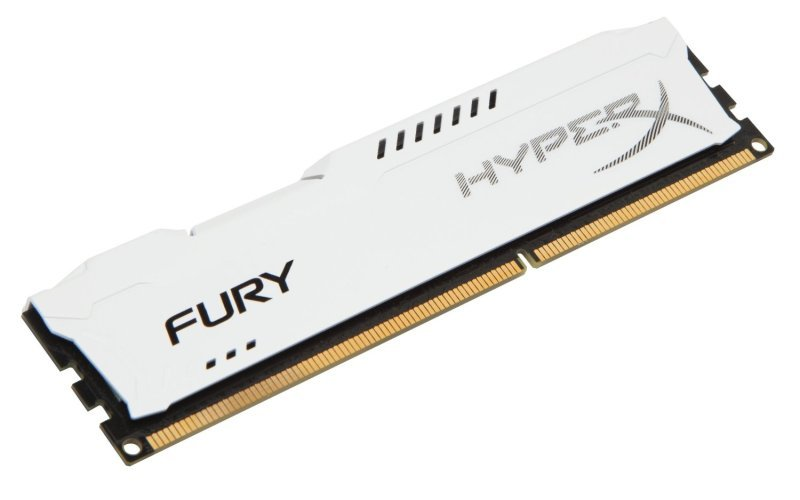 HyperX Fury White Series 4GB 1600MHz DDR3 CL10 DIMM