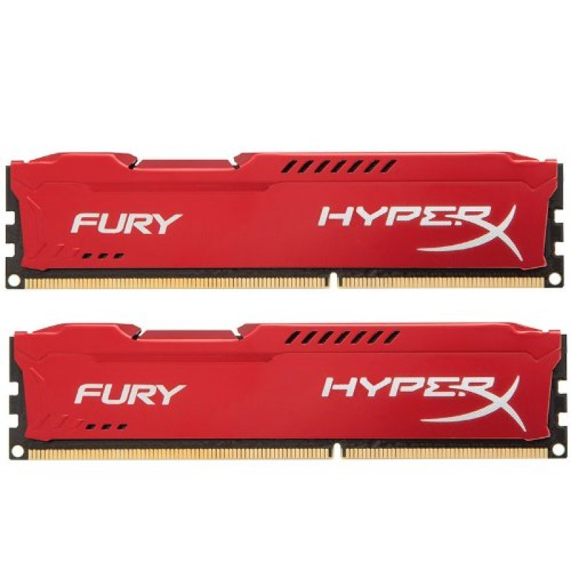 HyperX Fury Red Series 16GB 1866MHz DDR3 CL10 DIMM Kit of 2 Memory
