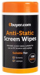 Ebuyer.com Anti Static Screen Cleaning Wipes - 100 Pack