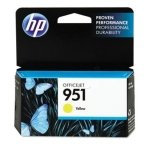 HP 951 Yellow	Original Ink Cartridge - Standard Yield 700 Pages - CN052AE