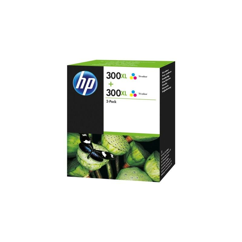 HP 300XL Multi-pack 2x Tri-Colour	Original Ink Cartridge - High Yield 440 Pages - D8J44AE