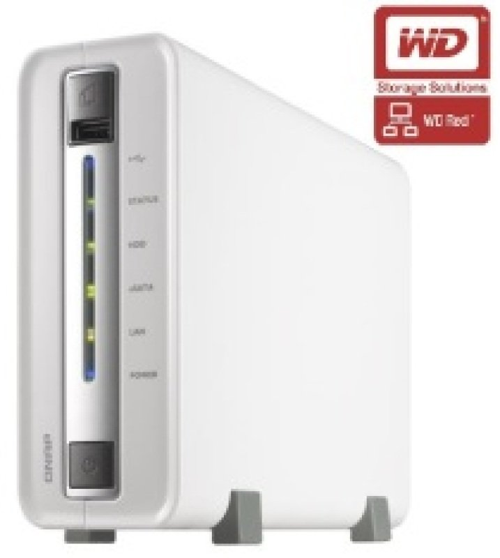 QNAP TS112P 6TB (1 x 6TB WD Red) 1 Bay Desktop NAS